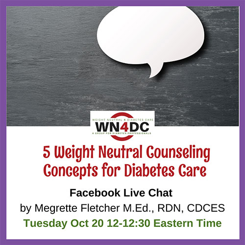 5 Weight Neutral Counseling Concepts for Diabetes Care