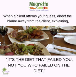 It's the diet that failed you, not you who failed the diet